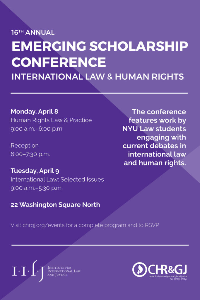 16th Annual International Law and Human Rights Emerging