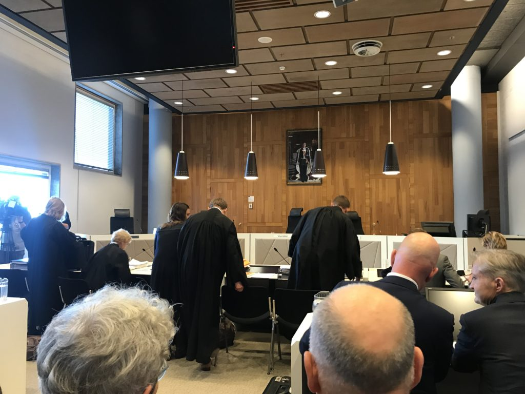 hearing before the District Court of The Hague
